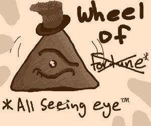 all seeing eye pyramid spinwheel (with tophat)