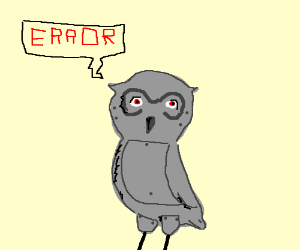 Hoothoot with Error messages