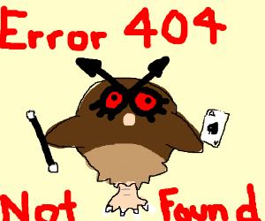 Error 404. magician hoothoot not found