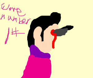 Robbie Rotten gets stabbed in the face