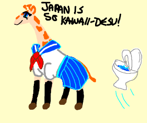 Image result for weeaboo giraffe