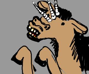The Tri-corn, a three horned horse.