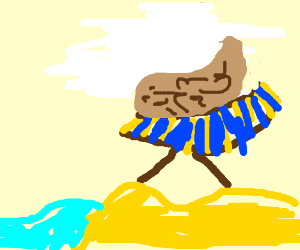 A scrotum on vacation