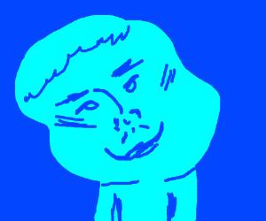 blue guy smiling