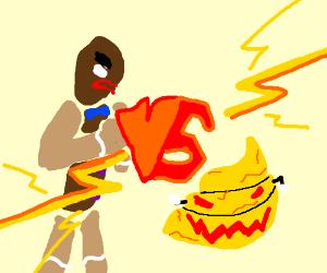 gingerbread man vs evil yellow poop