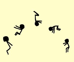 Image result for backflip drawing