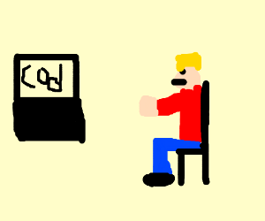 A guy playing video games
