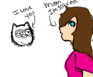"""A Furby says """"I love you"""" to a girl"""