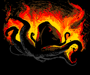 flaming octopus