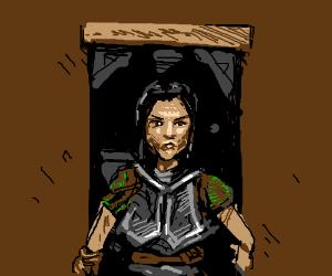Lydia standing in your doorway