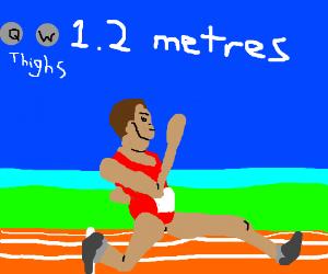 1.2 meters on qwop :0