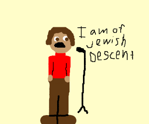 jew giving a speech