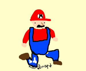 mario breaks his leg
