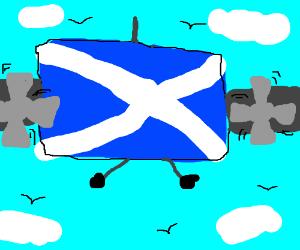 Scottish flag is a plane