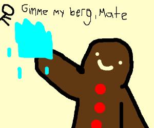 Gingerbread man steals Australian mans iceberg