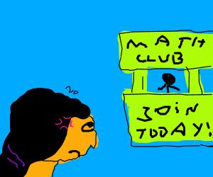 Girl hates Math club