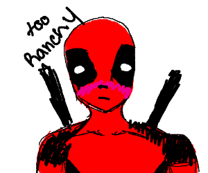 deadpool sees something too raunchy for him