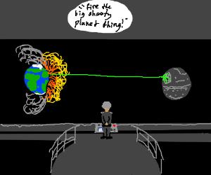 Death star destroying earth