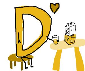 D loves his juice.