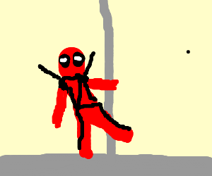 DeadPool needs to learn pole dancing ASAP