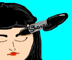 Need eyebrows on fleek for cheap? Use Sharpie.