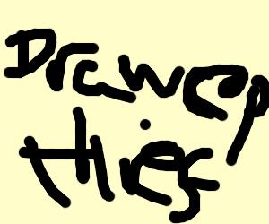 Thief named Drawception steals big bag of art