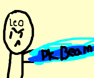 Leo uses PK Beam - Drawception