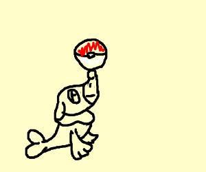popplio with a pokeball