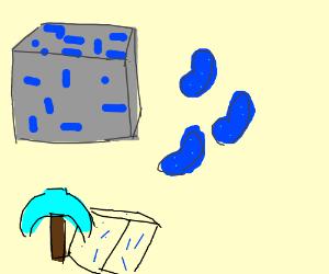 minecraft lapis lazuli :D