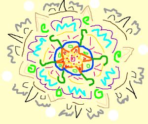 Beautiful kaleidoscope of colors