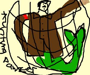 Merman Hitler Caught In Net