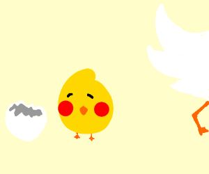 cute chick baby chicken drawing by kent reade