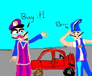 Waligi is a used car salesman