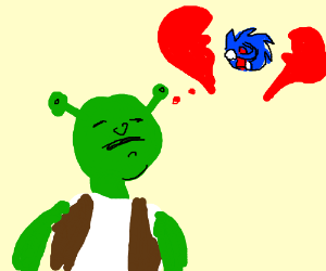 Shrek doesnt love Sonic the hedgehog