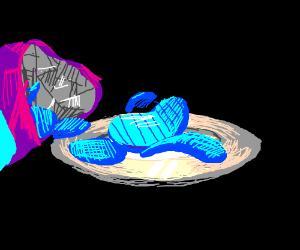 Blue crisps (chips)