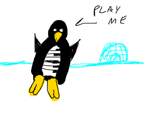 Piano penguin.