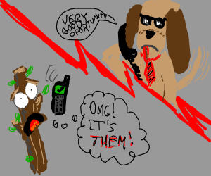 When stick figures call businessmen dogs