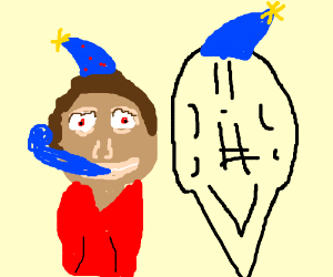 scared man celebrates buff ghosts 17thbirthday