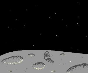 A meme's grave on the moon.