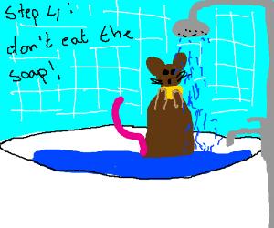 Step 3 take a shower you dirty animal
