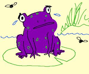 Scared/sad frog