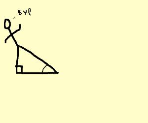 sine of a stick figure waving good bye