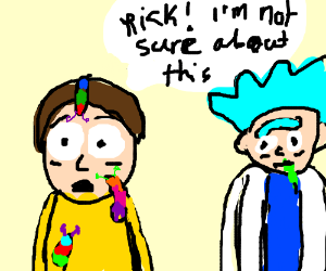 boy with multi-coloured slugs on his face