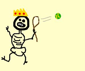 black skeleton is tennis king