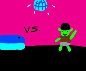 Pokemon whale vs disco Shrek