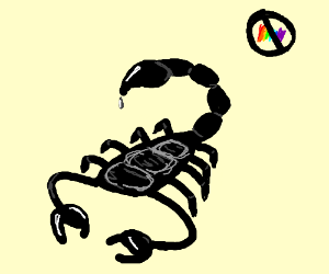 Black and white scorpion