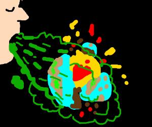 Bad breath destorys the earth