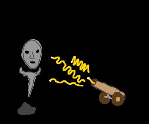 Man gets vaporized by photon cannon