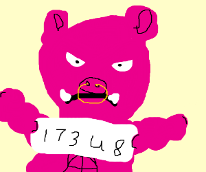 buff pig mugshot drawing by chef 222 man drawception