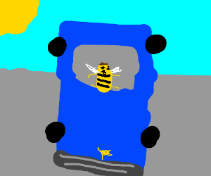 bee movie barry driving a car